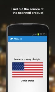 Android App that scans country of origin of product