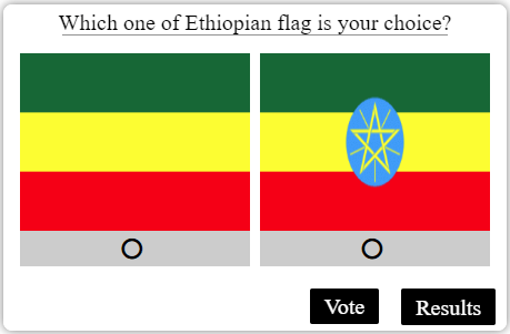 Ethiopian Flag Survey for Amendment of Constitution