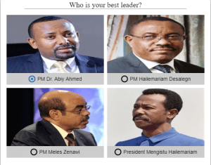 Vote for Ethiopian Leaders